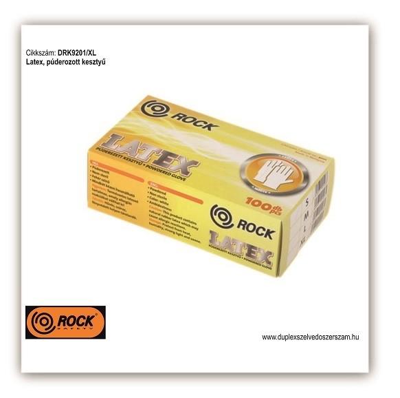 Latex púderozott kesztyű, védőkesztyű - DRK9201/XL