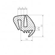 MTZ hátsó szélvédő gumikeret -UNI355
